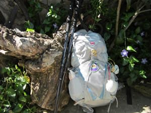 Pack and poles for the Camino de Santiago