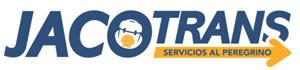 Jocotrans camino bag transport company logo.
