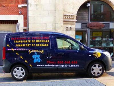 Jocotrans Camino bag transport van.