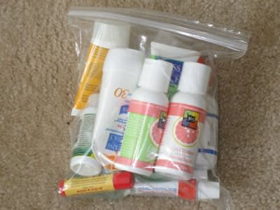What to pack for toiletries