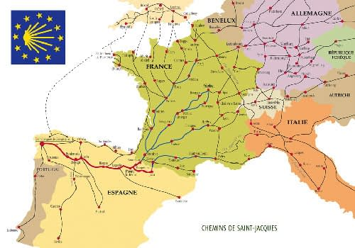 when where how the camino routes in spain