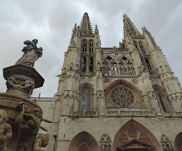 Burgos Cathedral at the end of the Burgos to Leon route