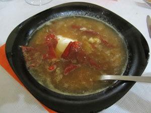 food and water garlic soup