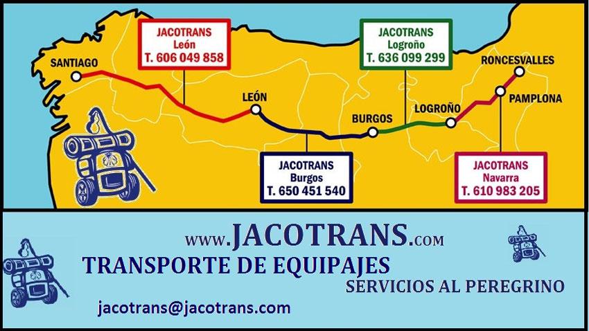 Jocotrans camino bag transport service area.