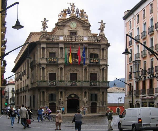City Hall in Pamplona to Santiago route